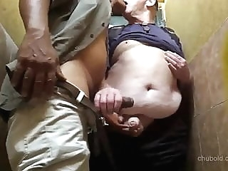 cruising in public restroom fat (gay) handjob (gay) masturbation (gay)