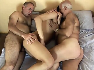 daddy and boy218 Alain enjoys two daddies gay bear gay big cock gay blowjob