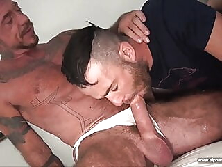 Ray Dalton, Alex Mason and Tommy DeLuca (RAM P5) bareback daddy group sex